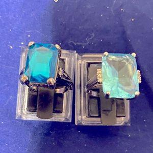 Swiss Blue Topax Rings Bundle .925 -For Terrye